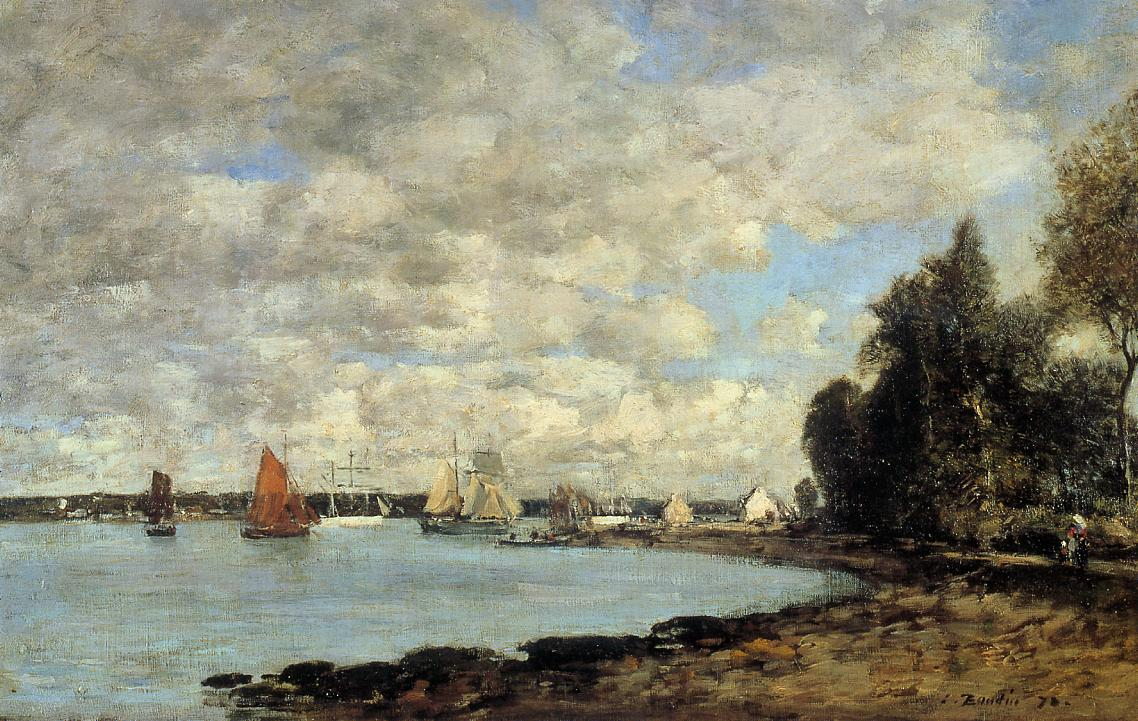 Bay of Plougastel 1872 | Eugene Louis Boudin | Oil Painting