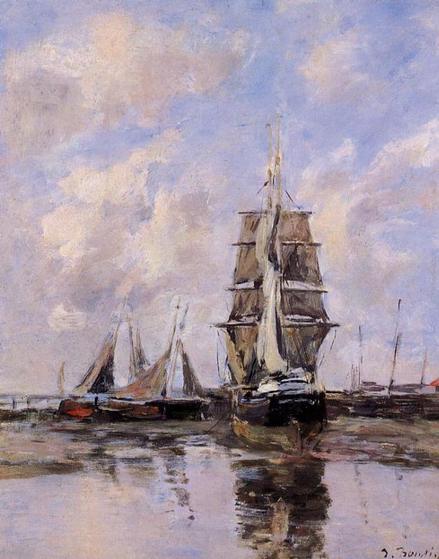 Beached Boats 1888-1895 | Eugene Louis Boudin | Oil Painting