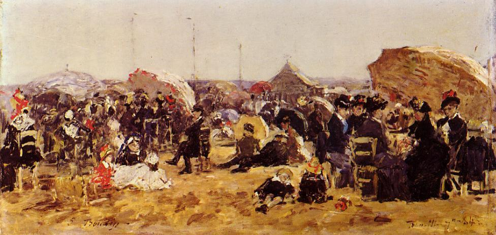 Beach at Trouville 1894 | Eugene Louis Boudin | Oil Painting