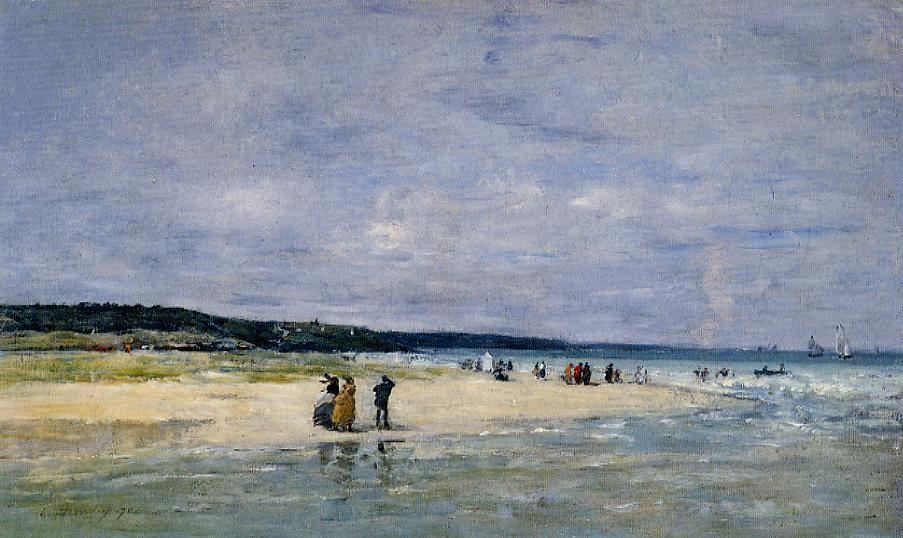 Beach near Trouville 1870 | Eugene Louis Boudin | Oil Painting