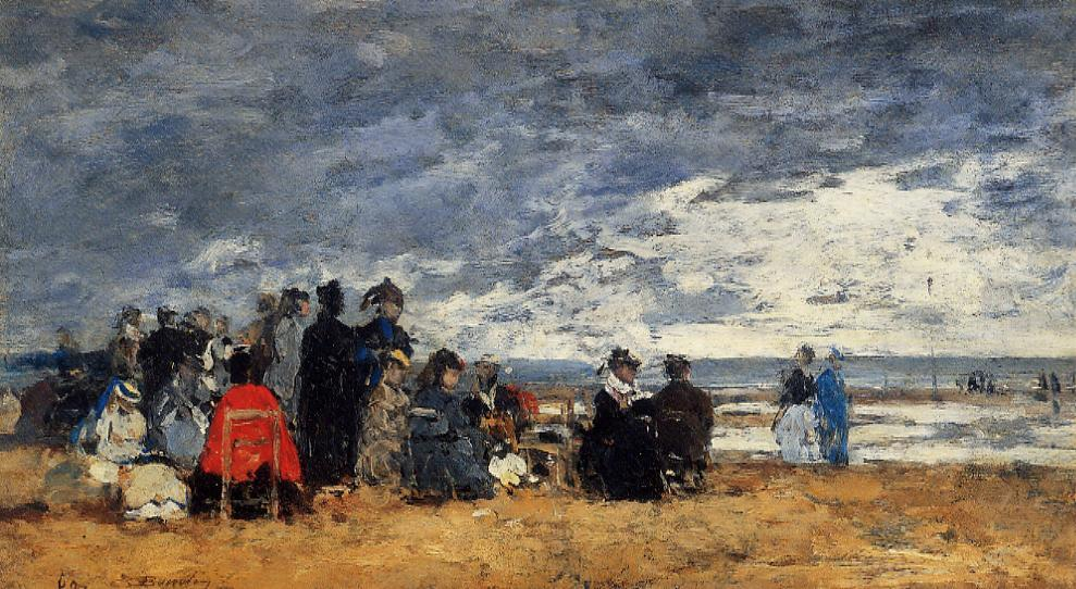 Beach Scene1 1869 | Eugene Louis Boudin | Oil Painting
