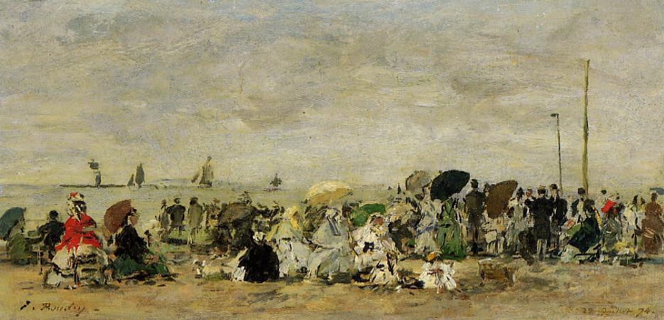 Beach Scene Deauville 1874 | Eugene Louis Boudin | Oil Painting