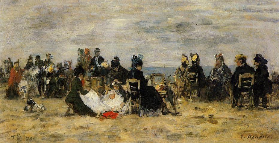 Beach Scene Trouville 1879 | Eugene Louis Boudin | Oil Painting