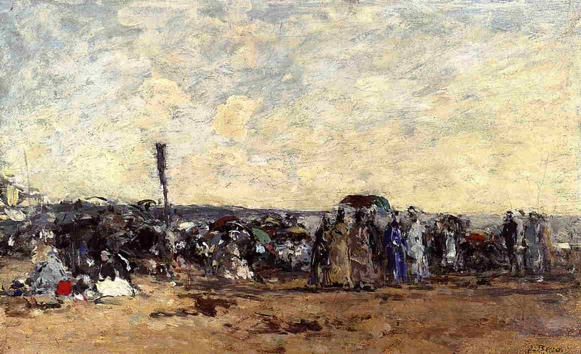 Beach Scene 1867-1870 | Eugene Louis Boudin | Oil Painting