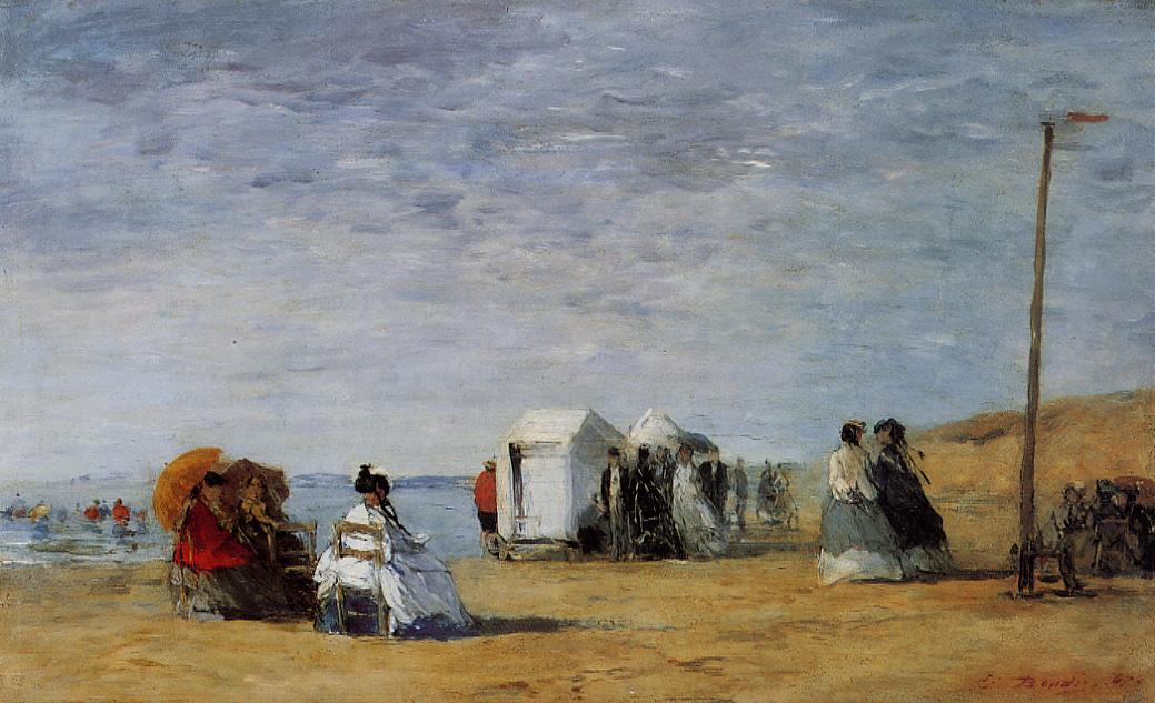 Beach Scene 1867 | Eugene Louis Boudin | Oil Painting