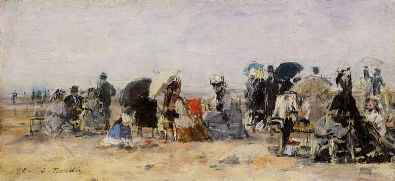 Beach Scene 1875 | Eugene Louis Boudin | Oil Painting