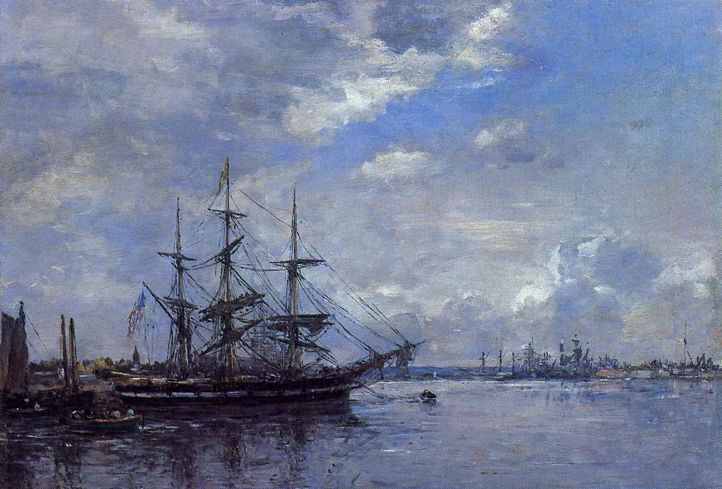 Belgique L'Escaut Tournant 1871-1873 | Eugene Louis Boudin | Oil Painting