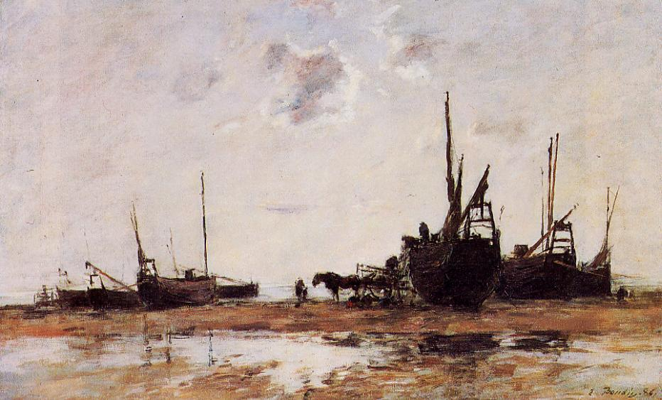 Berck Low Tide 1886 | Eugene Louis Boudin | Oil Painting