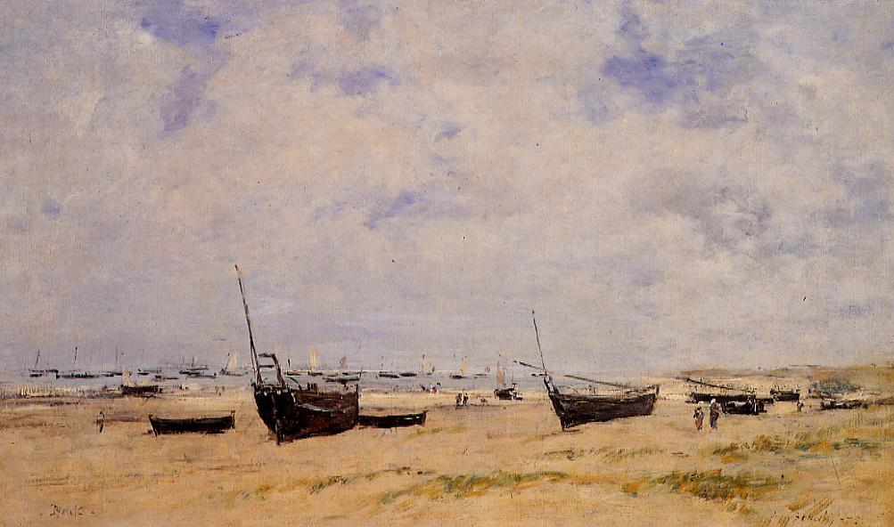 Berck the Beach at Low Tide 1875 | Eugene Louis Boudin | Oil Painting