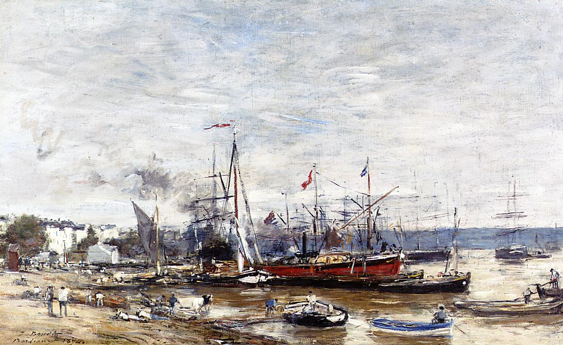 Bordeaux a Corner of the Port 1874 | Eugene Louis Boudin | Oil Painting