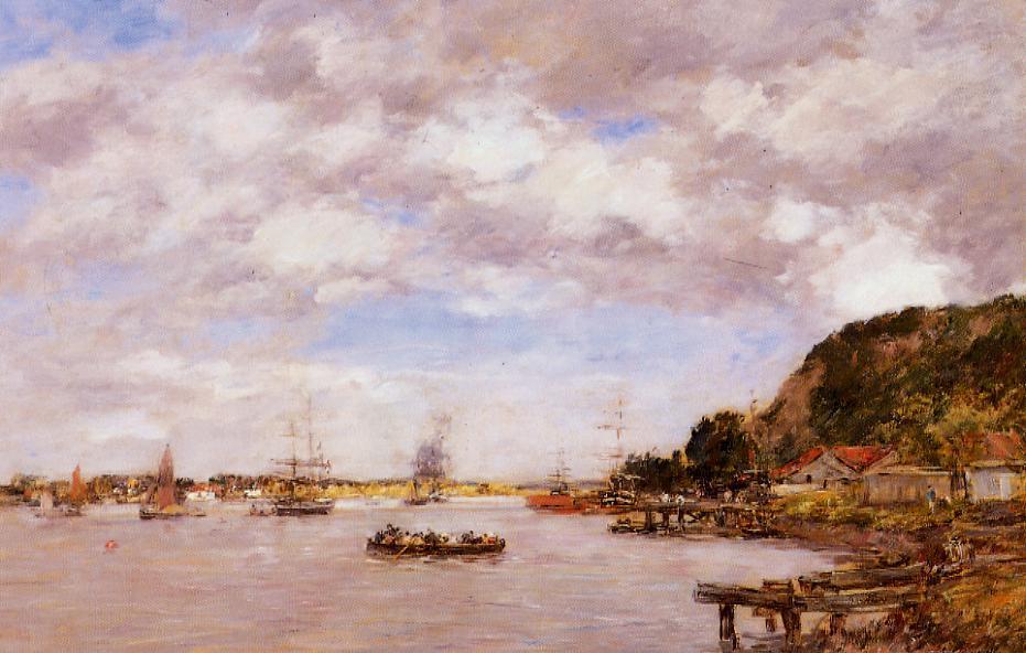Bordeaux la Cargonne a Larmont 1876   Eugene Louis Boudin   Oil Painting