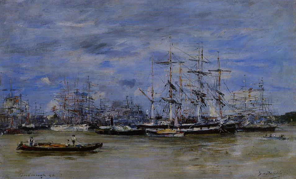 Bordeaux the Port1 1874 | Eugene Louis Boudin | Oil Painting