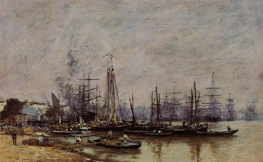 Bordeaux the Port2 1874 | Eugene Louis Boudin | Oil Painting