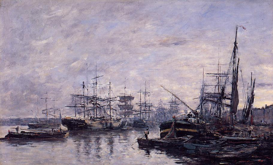 Bordeaux the Port3 1874 | Eugene Louis Boudin | Oil Painting