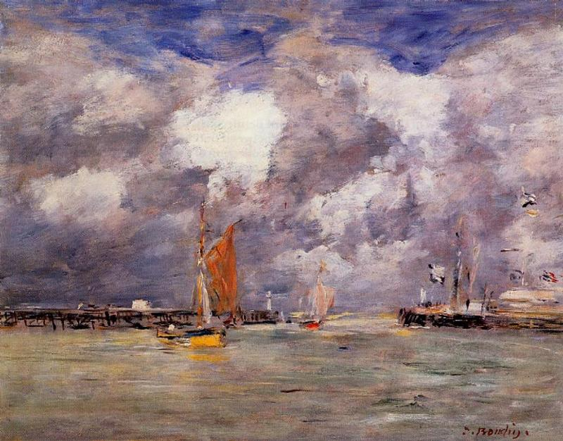 Bortreux the Port 1873 | Eugene Louis Boudin | Oil Painting