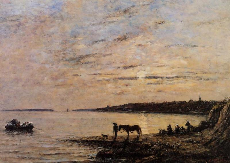 Brest the Harbor 1870 | Eugene Louis Boudin | Oil Painting