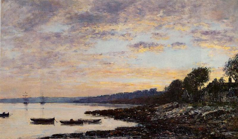 Brest the Harbor 1872 | Eugene Louis Boudin | Oil Painting