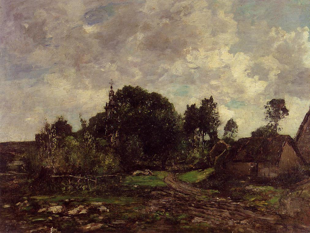Breton Landscape 1870-1873 | Eugene Louis Boudin | Oil Painting