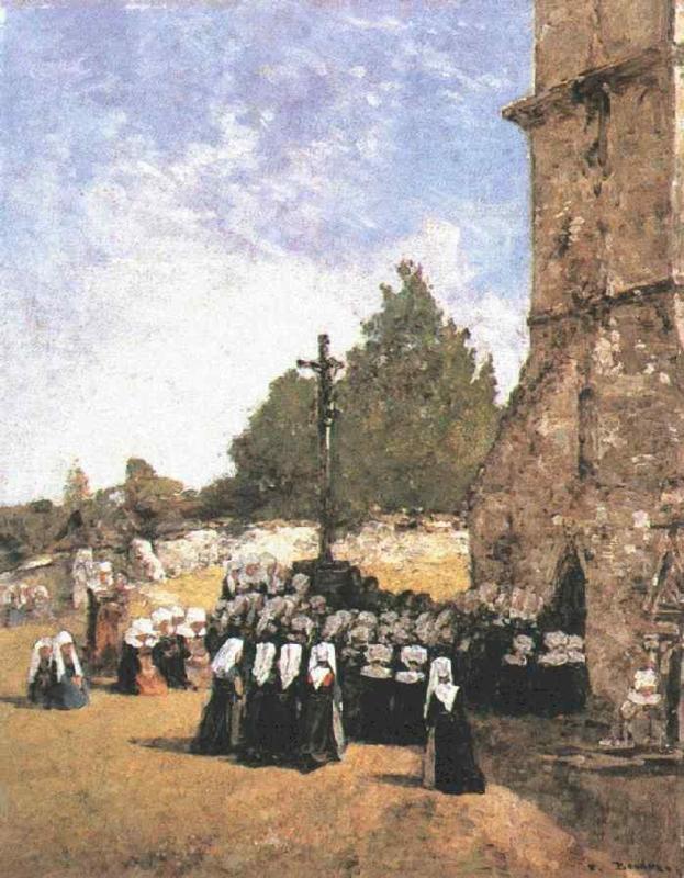 Breton Pardon 1865 | Eugene Louis Boudin | Oil Painting