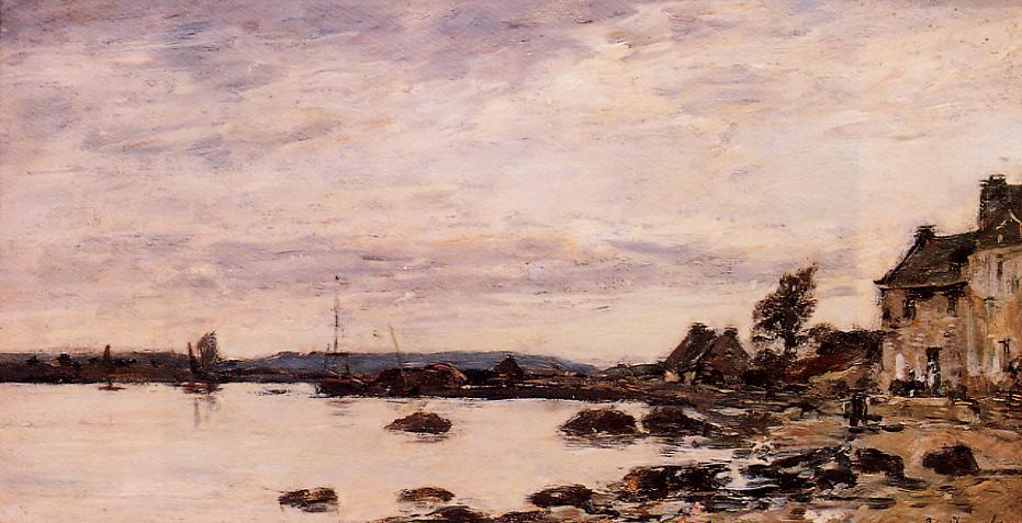Breton Shoreline 1870 | Eugene Louis Boudin | Oil Painting