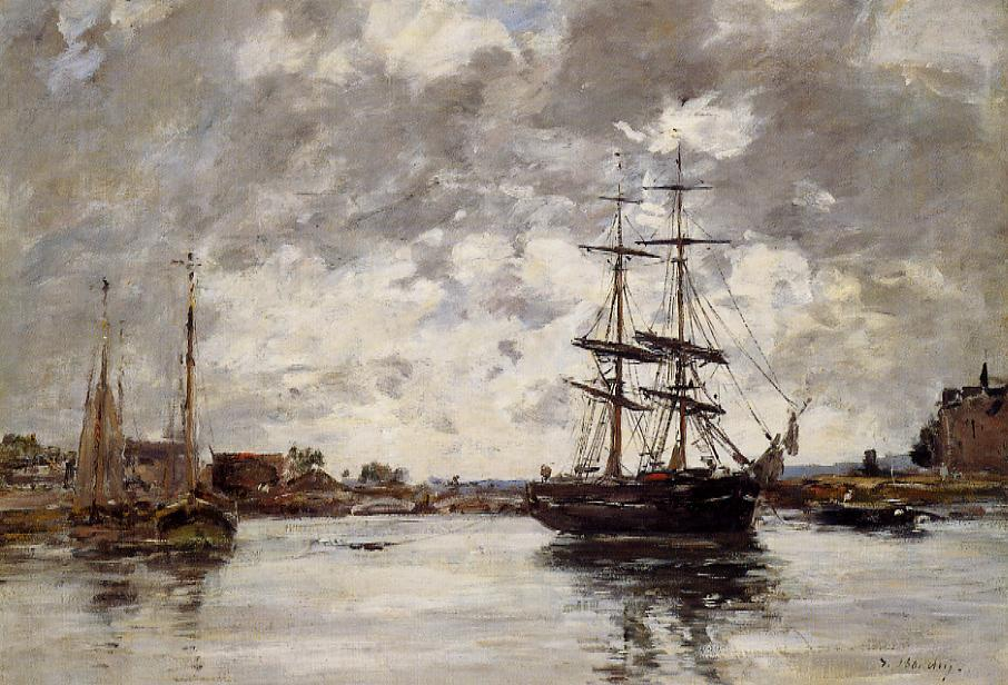 Bridge over the Touques 1888-1895 | Eugene Louis Boudin | Oil Painting