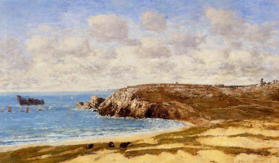 Camaret le Toulinguet2 1872 | Eugene Louis Boudin | Oil Painting