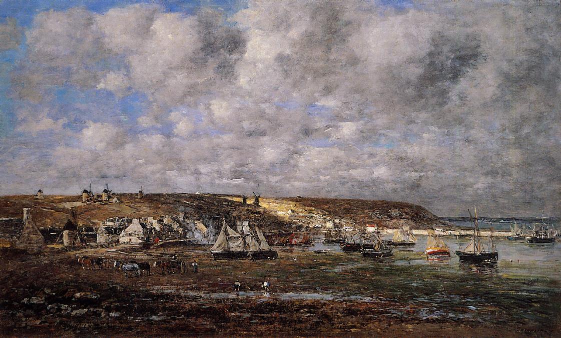 Camaret Low Tide 1873 | Eugene Louis Boudin | Oil Painting