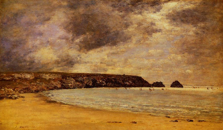Camaret the Bay 1873 | Eugene Louis Boudin | Oil Painting