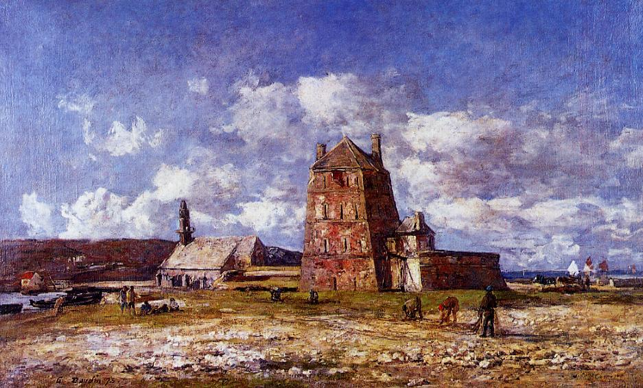 Camaret the Jetty 1873 | Eugene Louis Boudin | Oil Painting