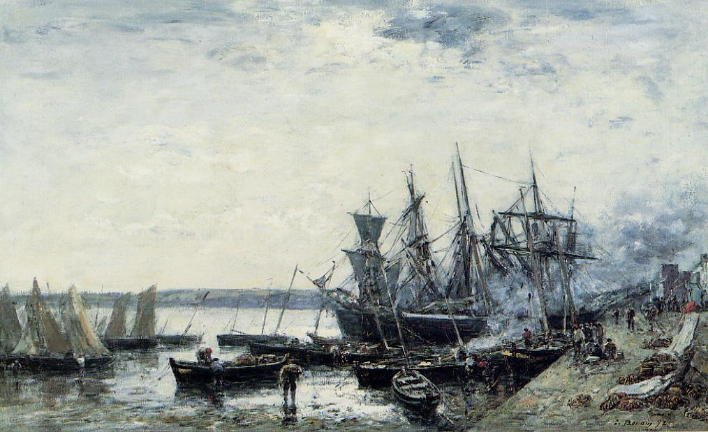 Camaret the Port 1872 | Eugene Louis Boudin | Oil Painting