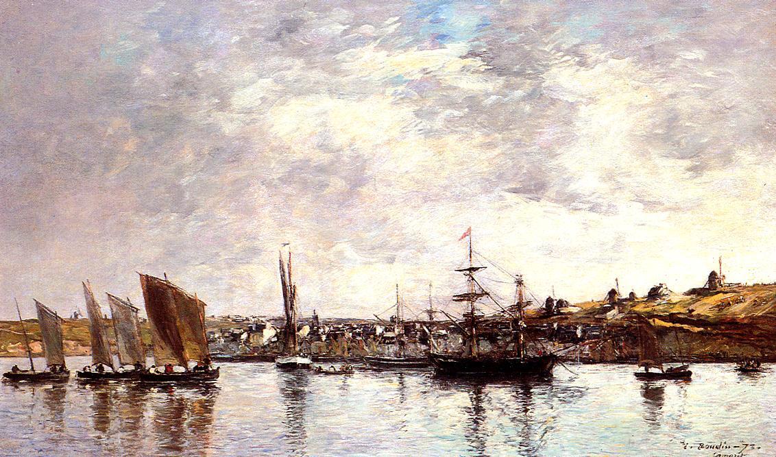 Camaret the Port 1873 | Eugene Louis Boudin | Oil Painting