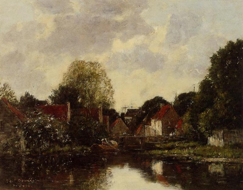 Canel near Dordrecht 1884 | Eugene Louis Boudin | Oil Painting