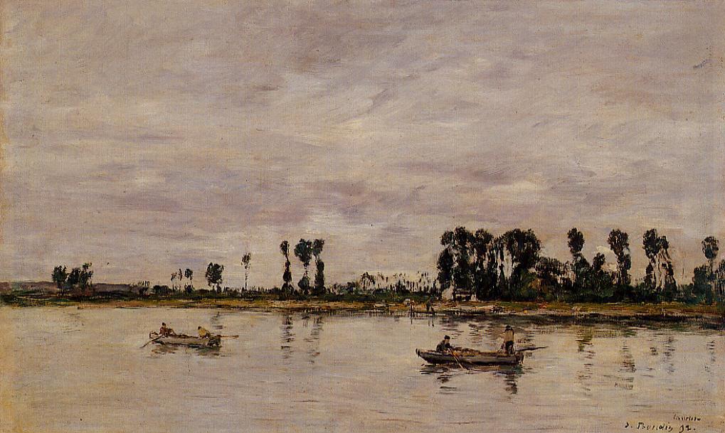 Caudebec-en-Caux Banks of the Saine 1892 | Eugene Louis Boudin | Oil Painting