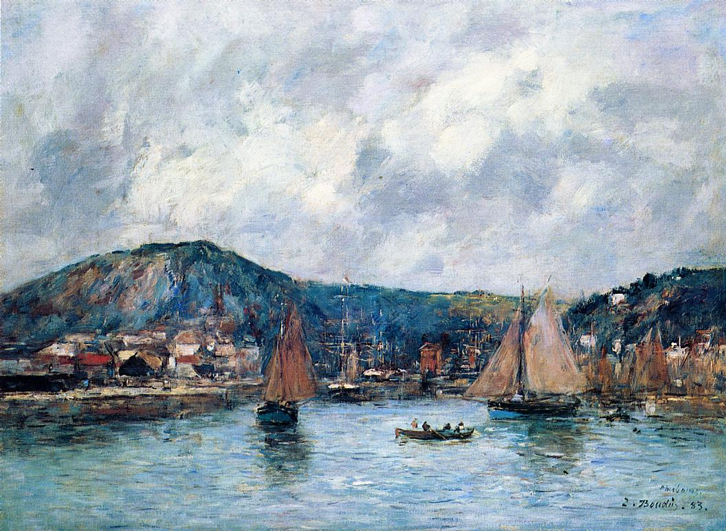 Cherbourg the Port 1883 | Eugene Louis Boudin | Oil Painting