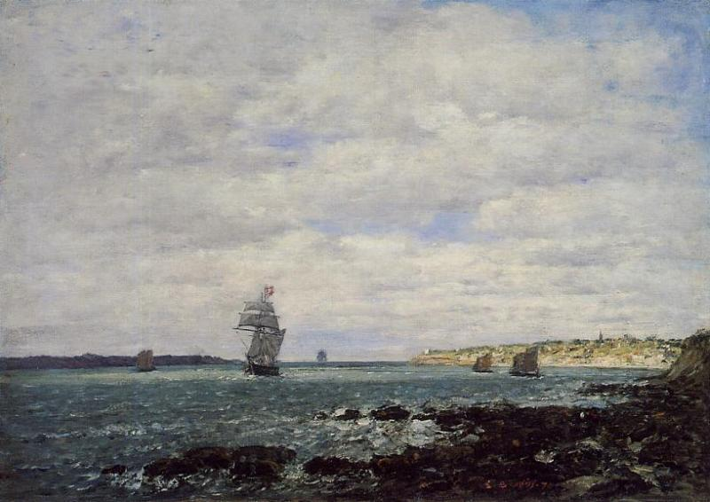 Coast of Brittany 1870 | Eugene Louis Boudin | Oil Painting