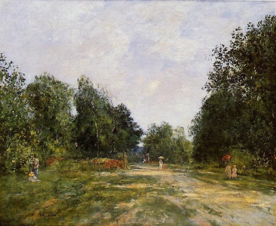 Cordier Park Trouville 1880-1885 | Eugene Louis Boudin | Oil Painting