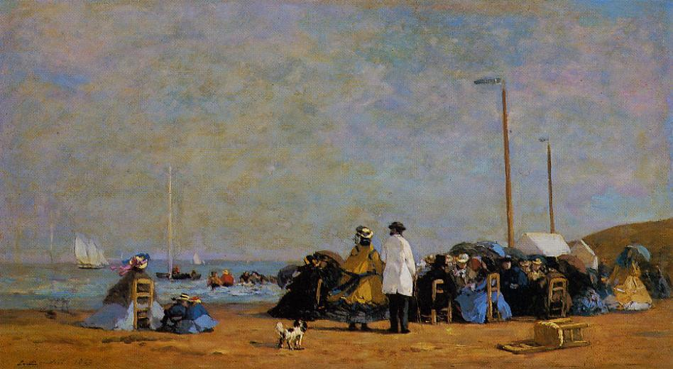 Crinolines on the Beach 1863 | Eugene Louis Boudin | Oil Painting