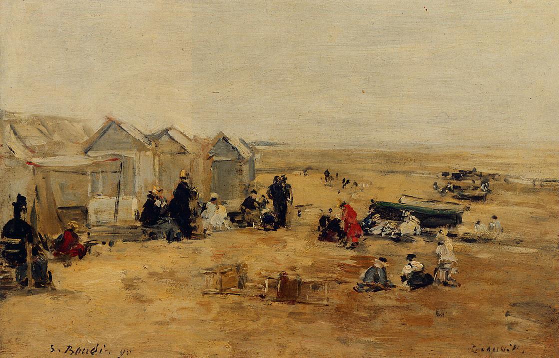 Deauville Beach Scene 1890 | Eugene Louis Boudin | Oil Painting