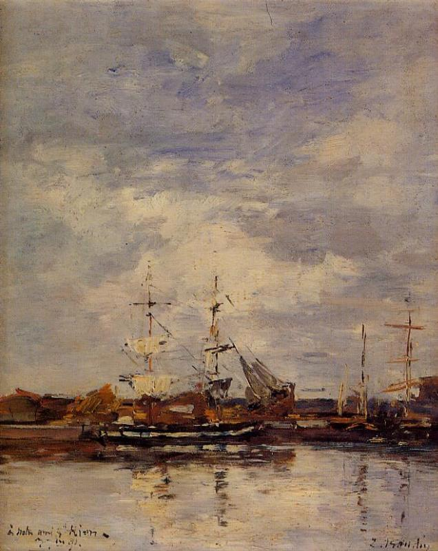Deauville Harbor 1891 | Eugene Louis Boudin | Oil Painting