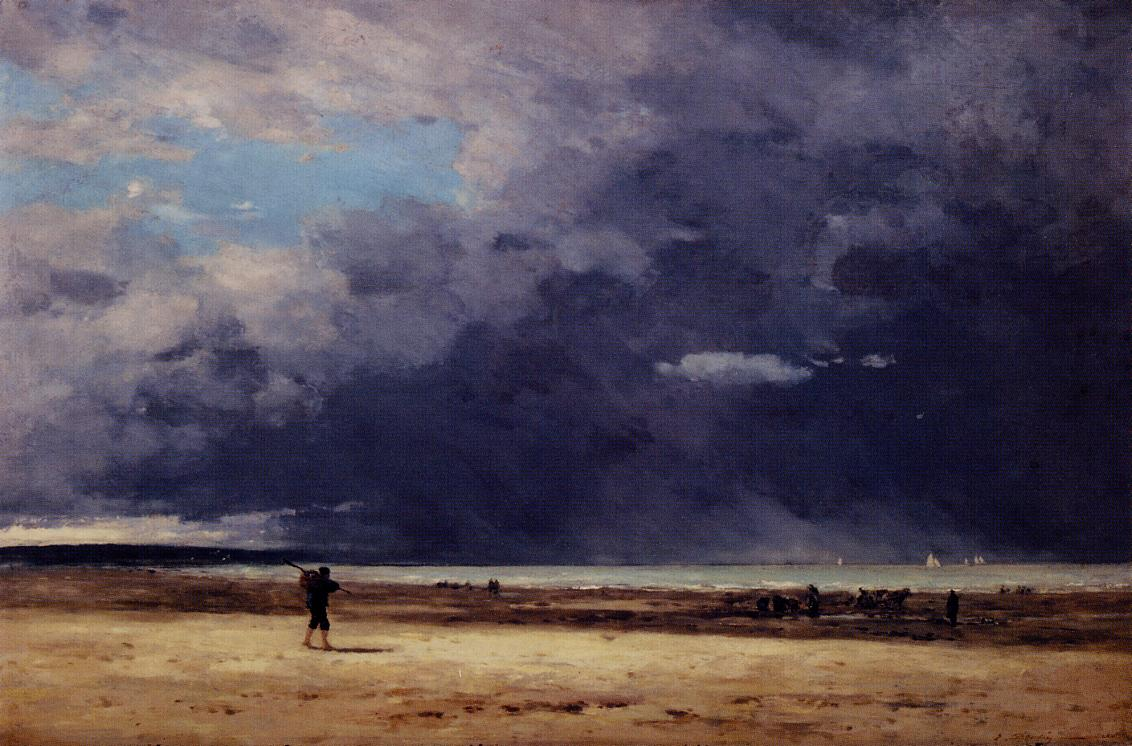 Deauville Low Tide 1860-1865 | Eugene Louis Boudin | Oil Painting