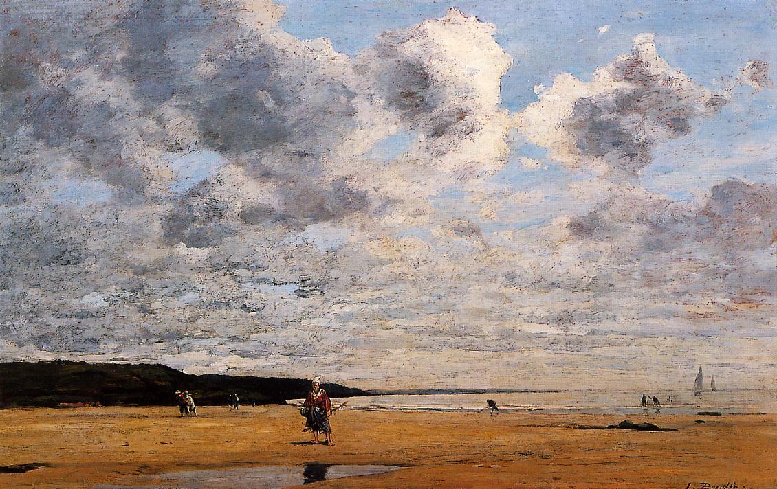 Deauville Low Tide 1863 | Eugene Louis Boudin | Oil Painting