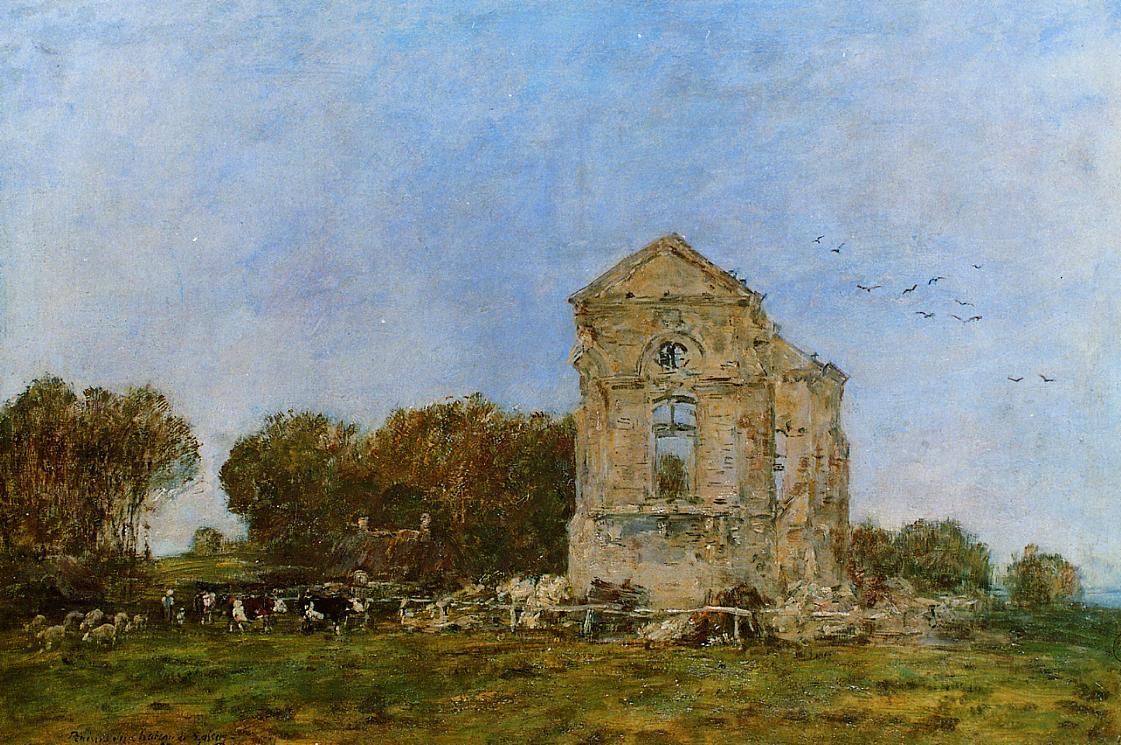 Deauville Ruins of the Chateau de Lassay 1893 | Eugene Louis Boudin | Oil Painting