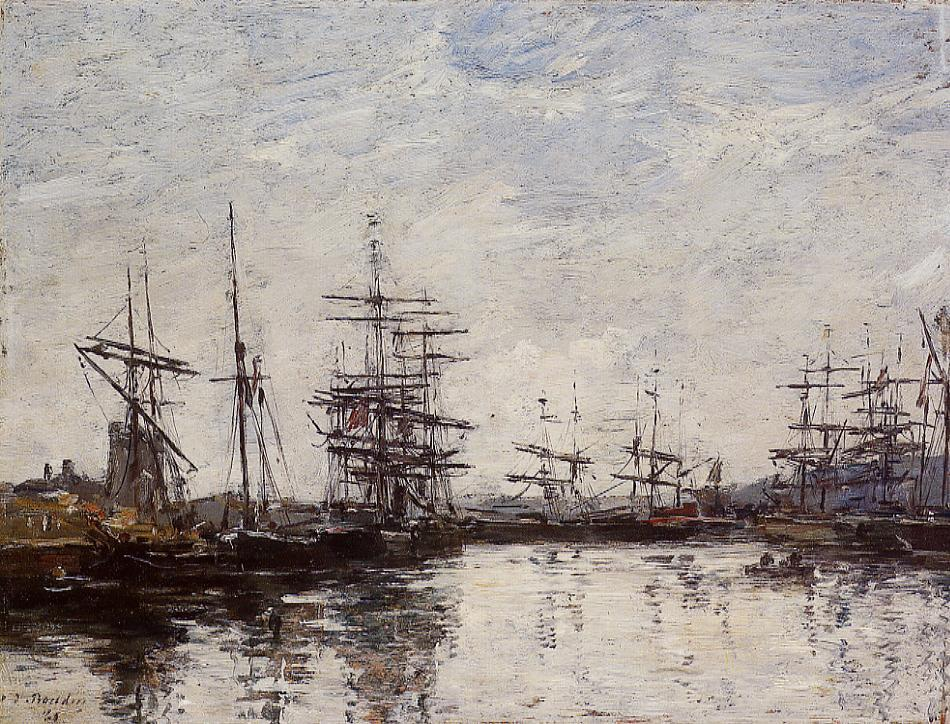 Deauville the Basin 1880 | Eugene Louis Boudin | Oil Painting