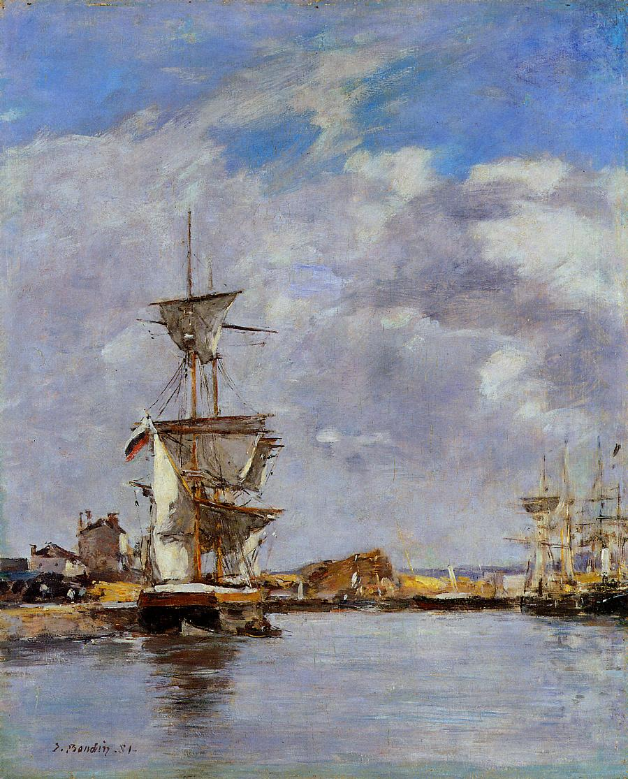 Deauville the Basin 1881 | Eugene Louis Boudin | Oil Painting