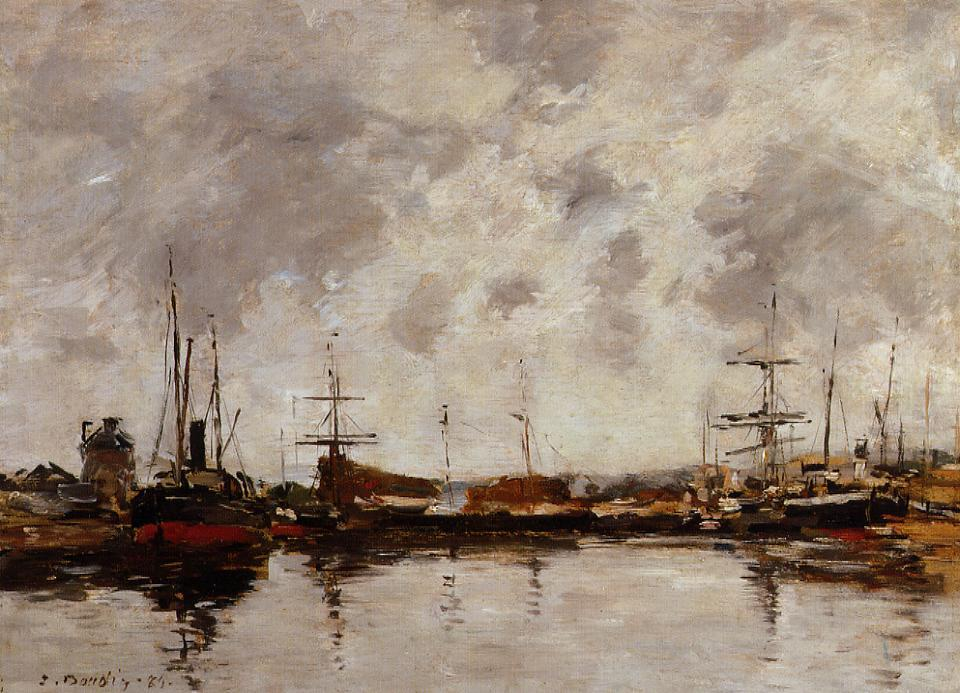 Deauville the Basin 1885 | Eugene Louis Boudin | Oil Painting