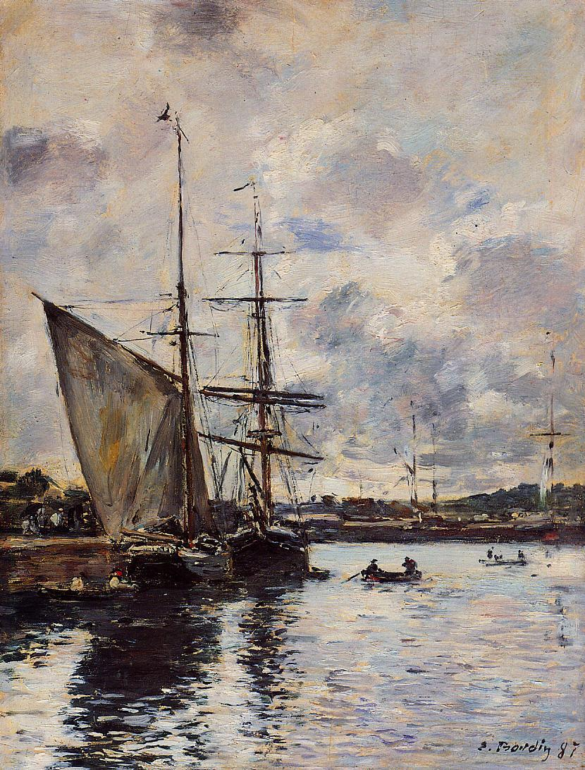 Deauville the Basin 1887 | Eugene Louis Boudin | Oil Painting