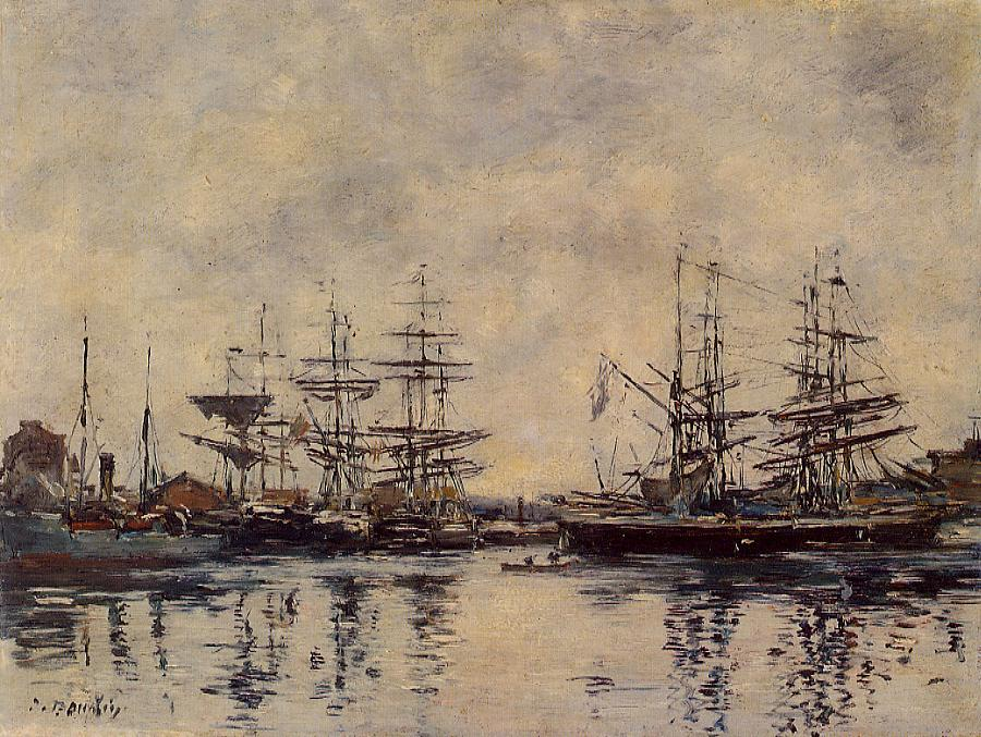 Deauville the Basin 1888-1895 | Eugene Louis Boudin | Oil Painting