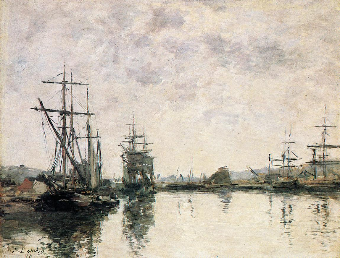 Deauville the Basin 1890 | Eugene Louis Boudin | Oil Painting