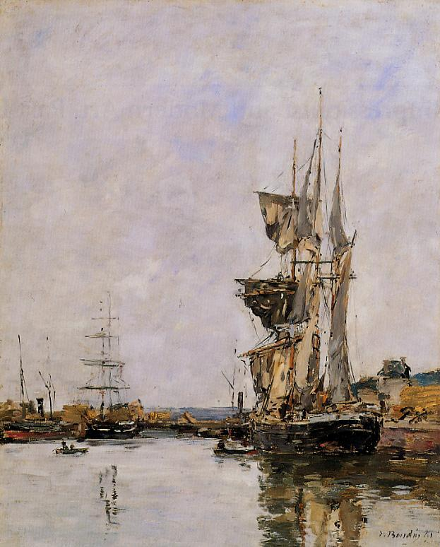 Deauville the Basin 1891 | Eugene Louis Boudin | Oil Painting