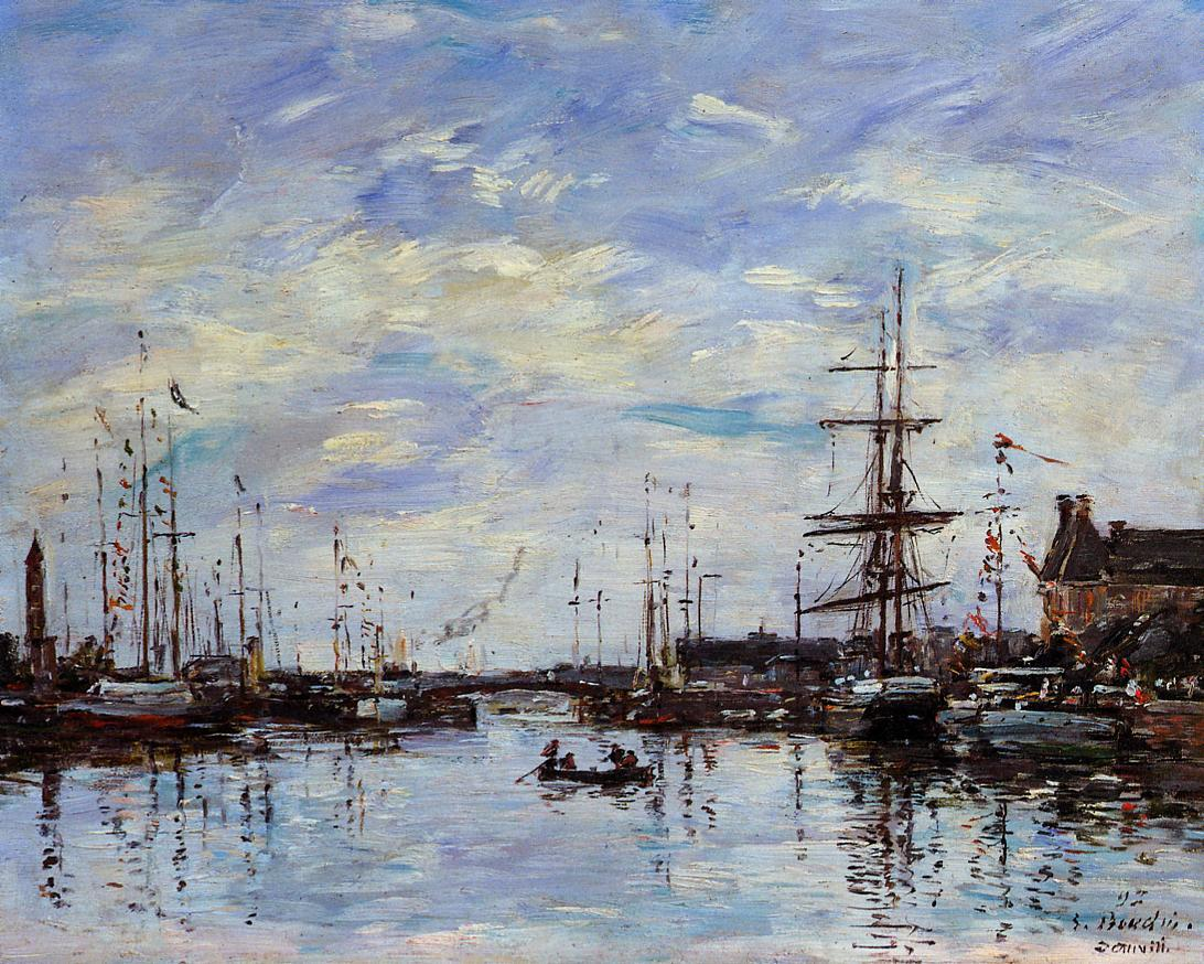 Deauville the Basin 1892 | Eugene Louis Boudin | Oil Painting